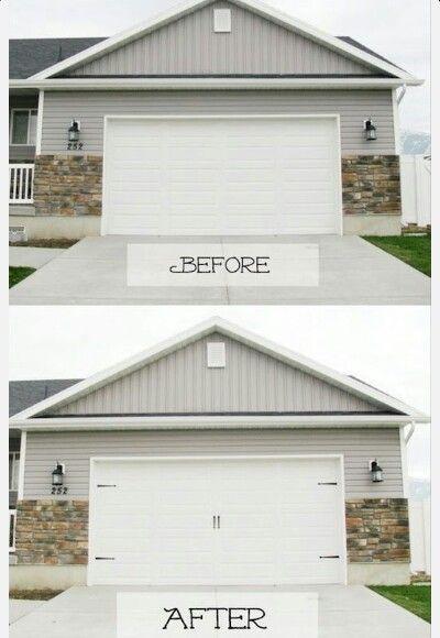Carriage garage doors without windows diy pinterest for Build carriage garage doors