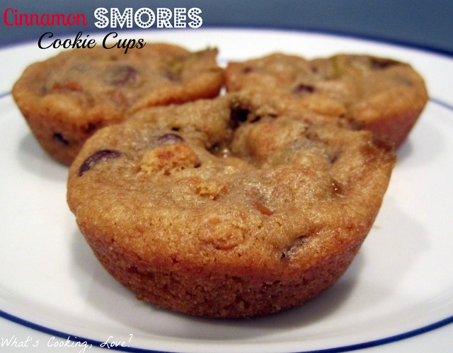 What's Cooking, Love?: Cinnamon Smores Cookie Cups