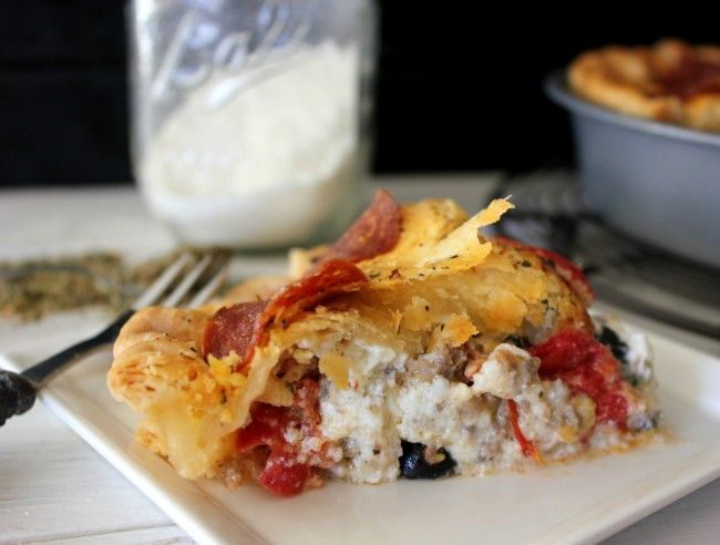 Pizza pot pie | For the Love of Food - Pie | Pinterest