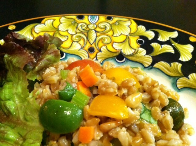 """Farro salad (p. 57) from Frances Mayes' new """"The Tuscan Sun Cookbook..."""