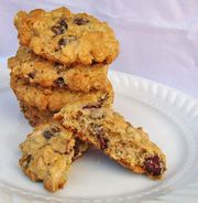 Chewy Cranberry Oatmeal Raisin Cookies