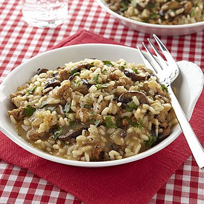 Baked Sausage and Mushroom Risotto | Recipe