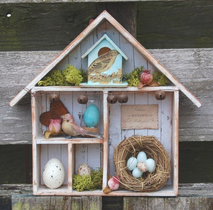 calico crafts Bird and egg house 01 //calicocrafts.co.uk/blog