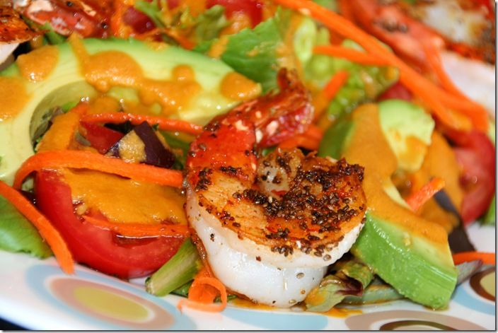 ... in this recipe - Shrimp & Avocado Salad with Carrot Ginger Dressing