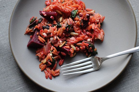 Orzo with Beets and Greens | New Recipes or Foods To Try | Pinterest