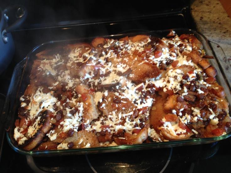 Capirotada!¡ Mexican bread pudding, birote soaked in piloncillo ...