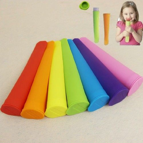 Green 2 Pcs Silicone Ice Pop Free Molds Healthy Snacks Awesome ...