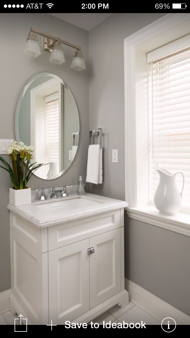 Guest bathroom color house pinterest for Two color bathroom ideas