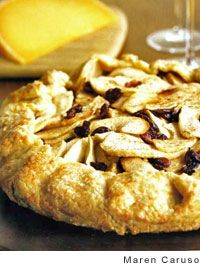 Mimolette Cheese and Apple-Cranberry Galette from Leite's Culinaria