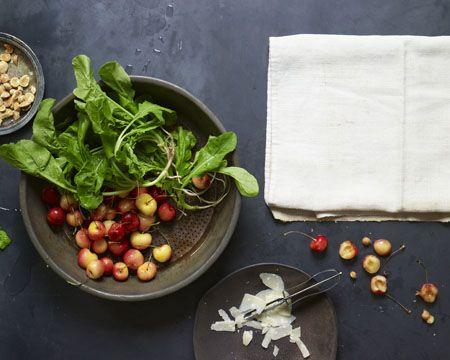 Arugula, Golden Cherries, Marcona Almonds, and Parmigiano | Recipe
