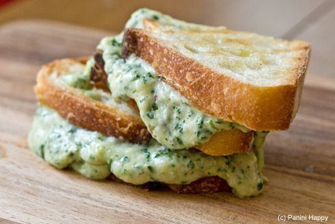 Green Goddess Grilled Cheese YUM      Panini  by paninihappy #Grilled_Cheese #Green_Goddess #Paninihappy