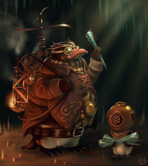 Leprechaun Steampunk — Von Caberte (2D) | Steampunk Art | Pinterest