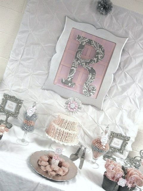 pink grey damask baby shower baby shower sip see pink gra