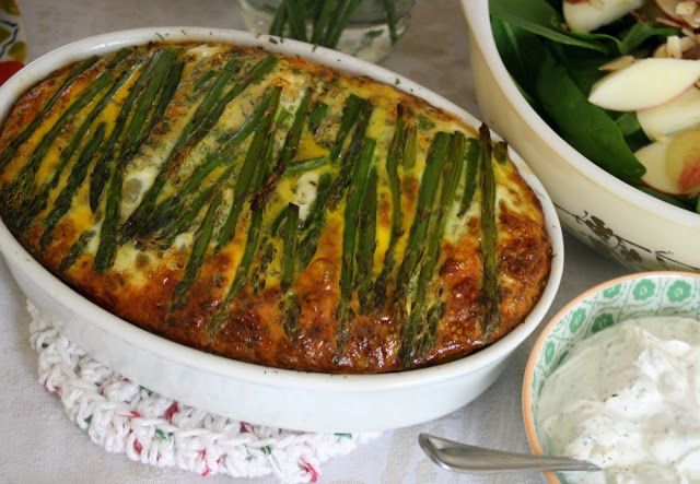 Carosello: Asparagus Frittata Recipe | Eat Healthy Main Dishes | Pint ...