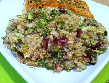 Lemon Quinoa with Currants, Dill and Zucchini