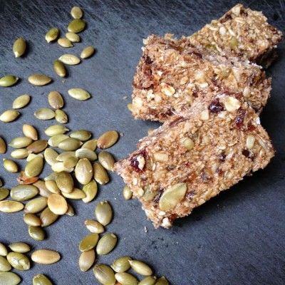 Chewy Granola Bars with Apricot, Pumpkin Seeds and Chocolate Chips