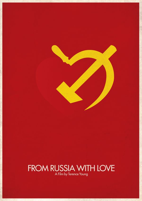 From Russia with Love (1963) - Minimal Movie Poster by Brett Thurman # ...