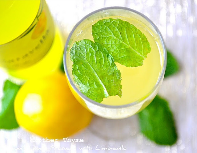 Meyer Lemon Prosecco with Limoncello