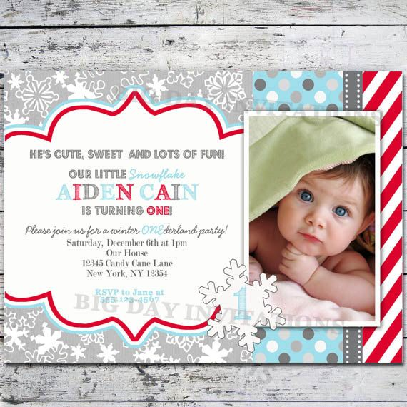 winter wonderland baby shower invitation snowflakes bright modern