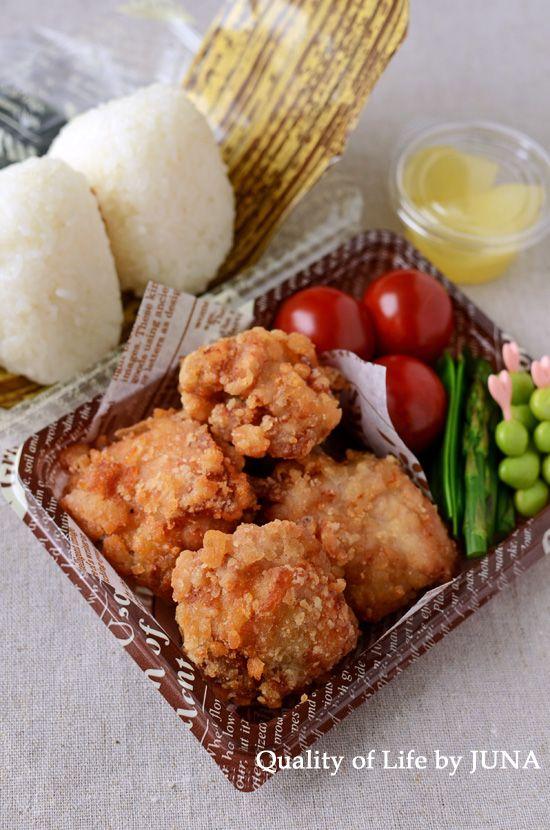 Fried chicken bento | Cute Japanese Bento | Pinterest