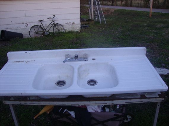Porcelain Farmhouse Kitchen Sink : Antique Porcelain Farmhouse Kitchen Sink by OldStuffDontSuck, $300.00 ...