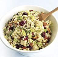Curried Turkey and Israeli Couscous Salad with Dried Cranberries-turkey leftover ideas