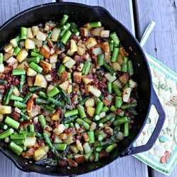 Asparagus Pancetta Hash - lighten up hash with crisp, green asparagus ...