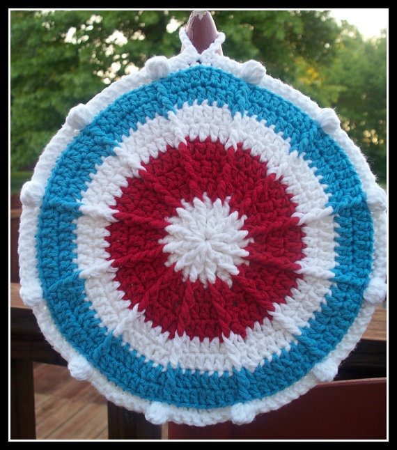 Crochet potholder Crafty Pinterest