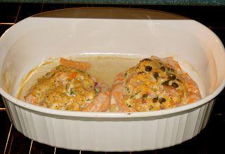 Lori's Culinary Creations: Mouthwatering Crab & Shrimp Stuffed Salmon
