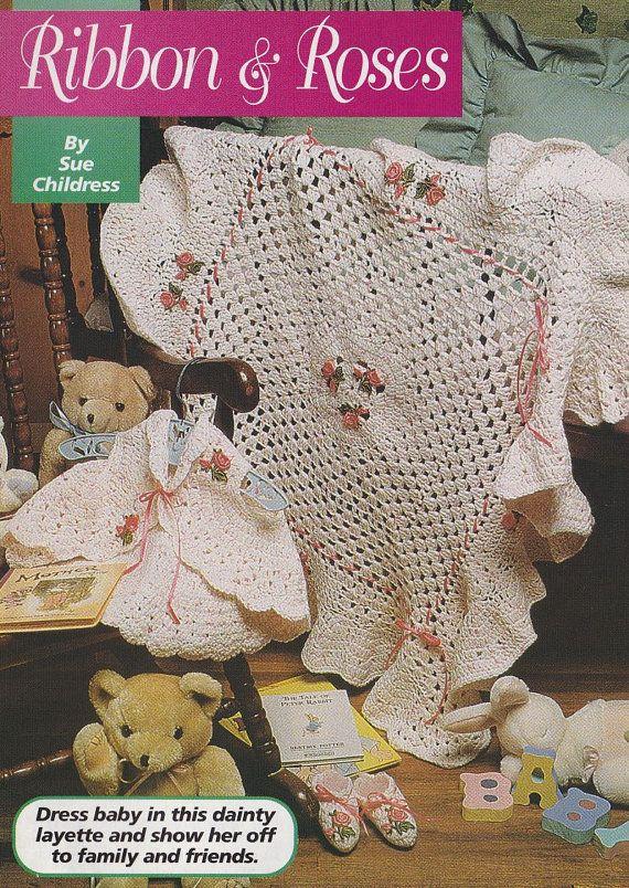 Free Online Crochet Baby Afghan Patterns : Pretty Baby Afghan Crochet Pattern - Matching Booties and ...