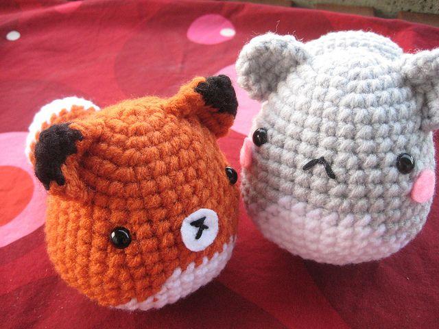 Amigurumi Squirrel Crochet Pattern : Amigurumi Critters - Fox, Squirrel, Penguin, Chick ...
