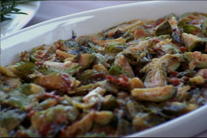 Screaming Heads: Brussels Sprouts Gratin Recipe : Food Network ...