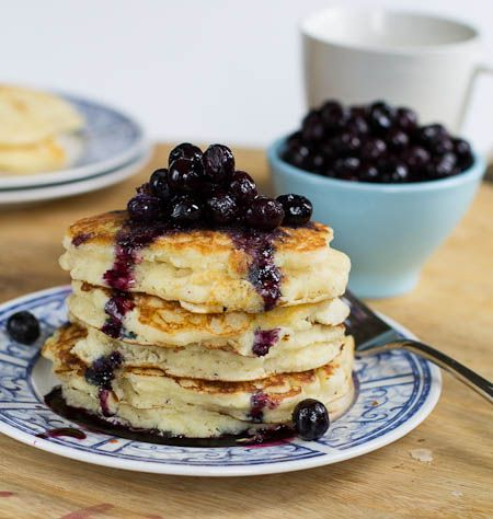 Buttermilk Pancakes with Blueberry Compote | Recipe