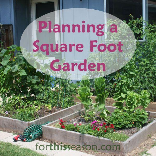 Planning A Square Foot Garden Gardening Ideas Pinterest