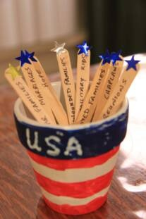 Prayer Pots ~ creative way to remember to pray for the military