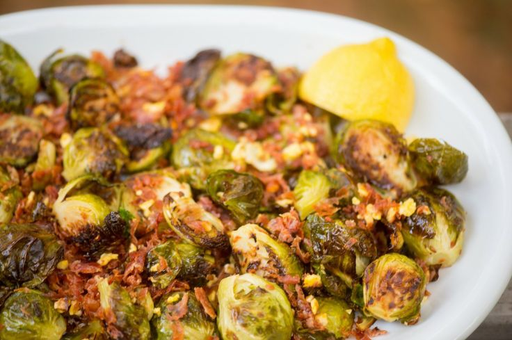 ... brussels sprouts recipe (topped with salted caramel popchips