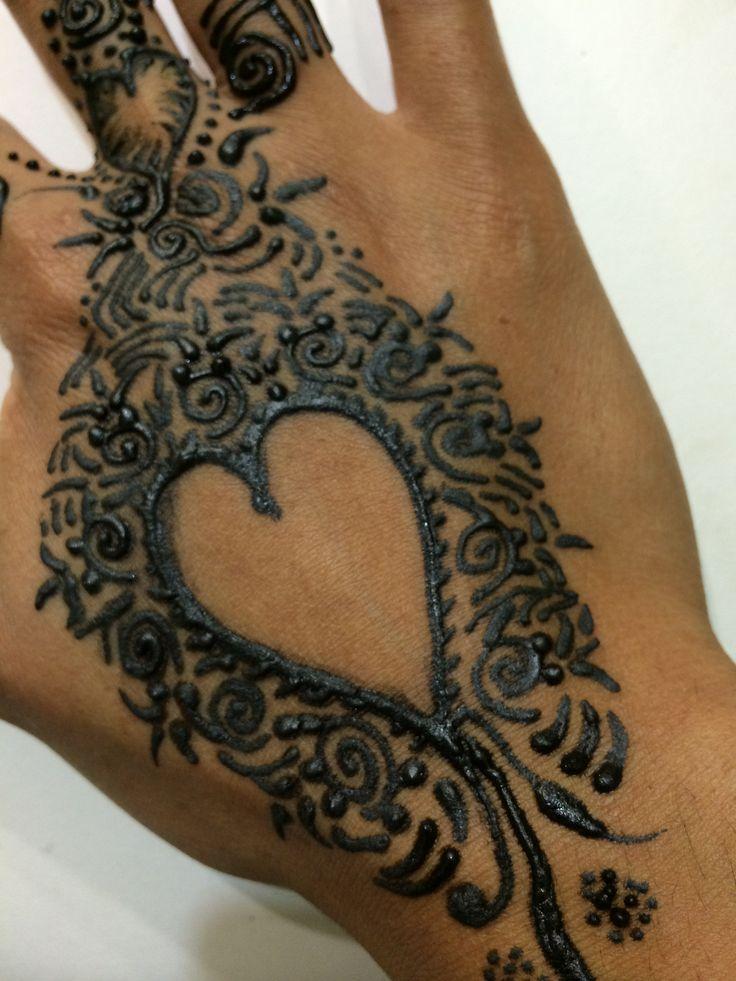 Heart Mehndi Design Images : Single heart henna design mehndi pinterest