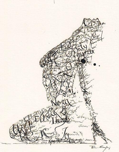 Emanuel Kaja 'Typographic nude'