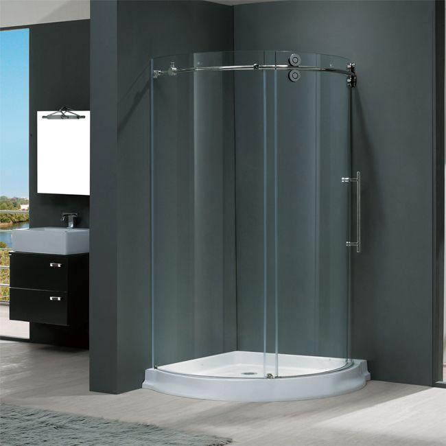 frameless curved shower enclosure bathrooms pinterest