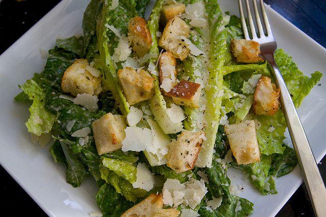 Simple Caesar Salad | Food & Drink | Pinterest
