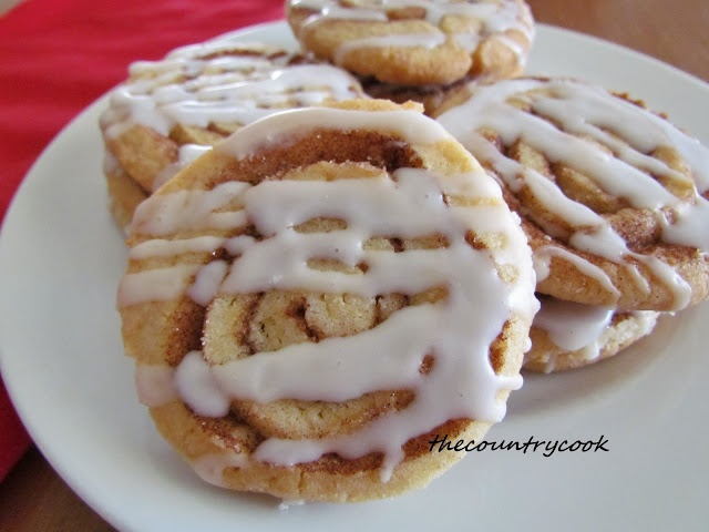 Here's a twist on sugar cookies. Cinnamon Roll Cookies.