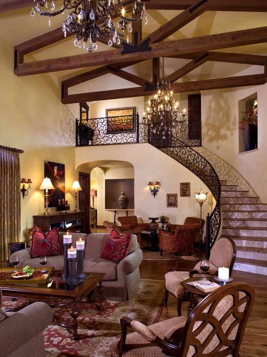 Living Room Old World Tuscan Design Tuscan Design Pinterest