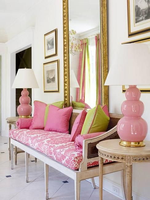 orange and hot pink interiors/images | Pink Color Schemes Offering Symbolic and Romantic Interior Design ...