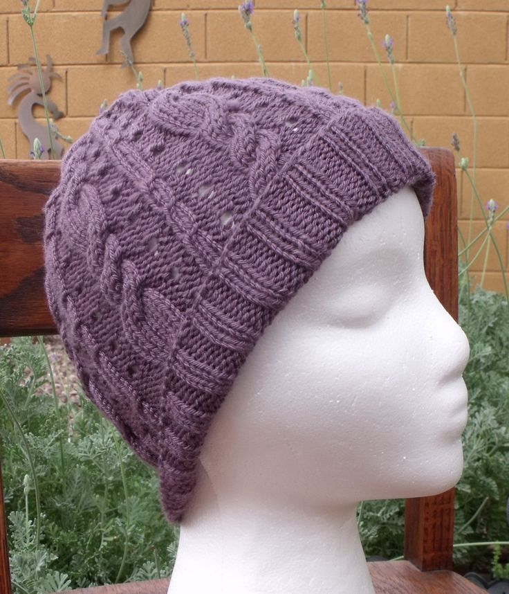 Loom Knit Cable Stitch Hat : Lavender Cable Hat 6 Crochet, knit and loom Pinterest