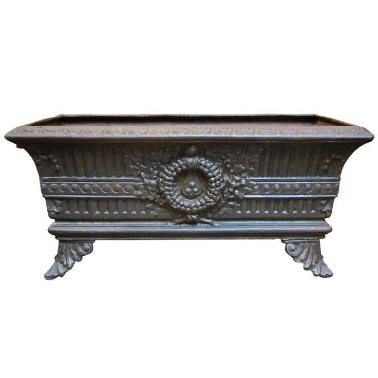French Low Planter of Cast Iron First Dibs Items Pinterest