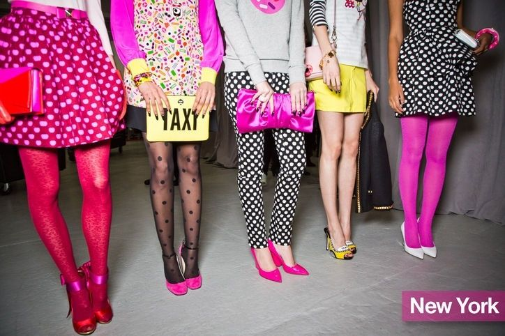 brightly colored fashion