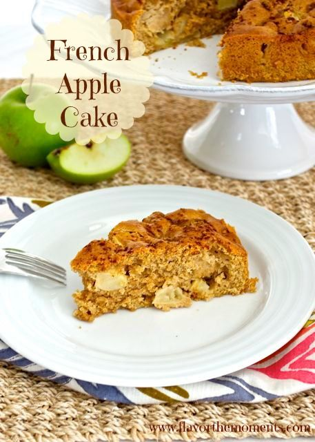 French Apple Cake | Flavor the Moments #cake #apples