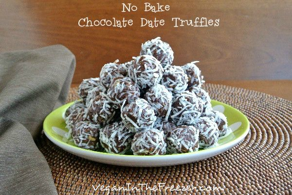 No Bake Chocolate Date Truffles Word | Gluten Free Sweets | Pinterest