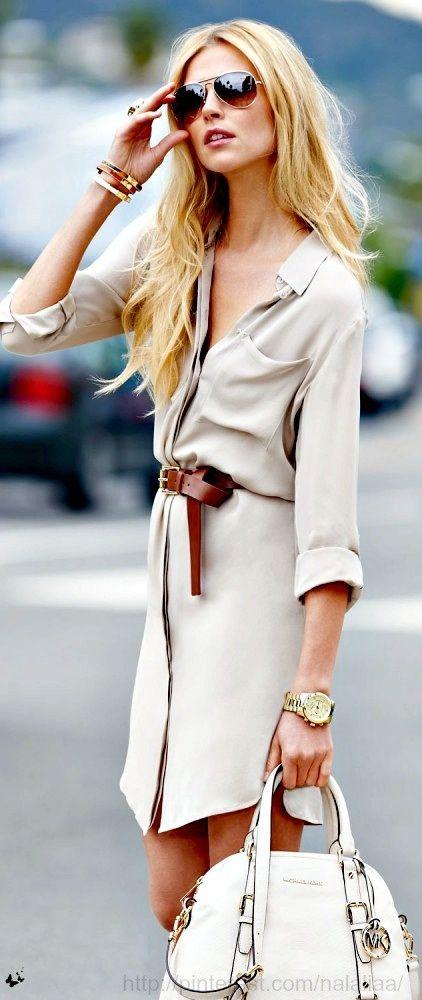 Michael Kors shirt dress    #DesignerHandbagsLove  #COM