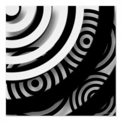 Trendy, chic and unique black and white decor for your home or office. Black and white poster, wrapped canvas, clocks, throw pillows, dishwasher...